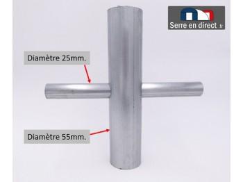 Croix pour arceau de serre 60mm.