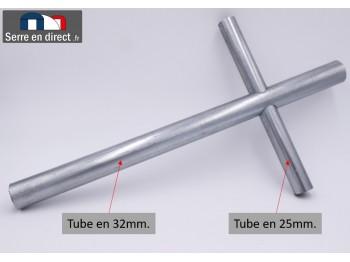Croix en 32mm pour arceau de serre.
