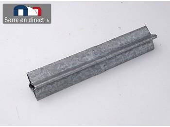 Manchon union pour tubes carré de 30mm.