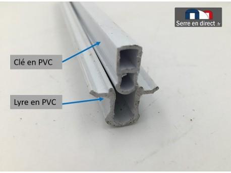 Clé + lyre DPG en PVC.