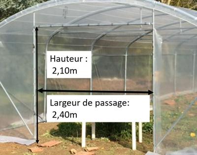 serre de jardin DOLMEN PRO 500